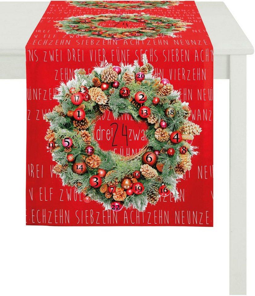 Apelt Tischläufer, 45/135 cm, »5157 WINTERWELT« in rot/grün