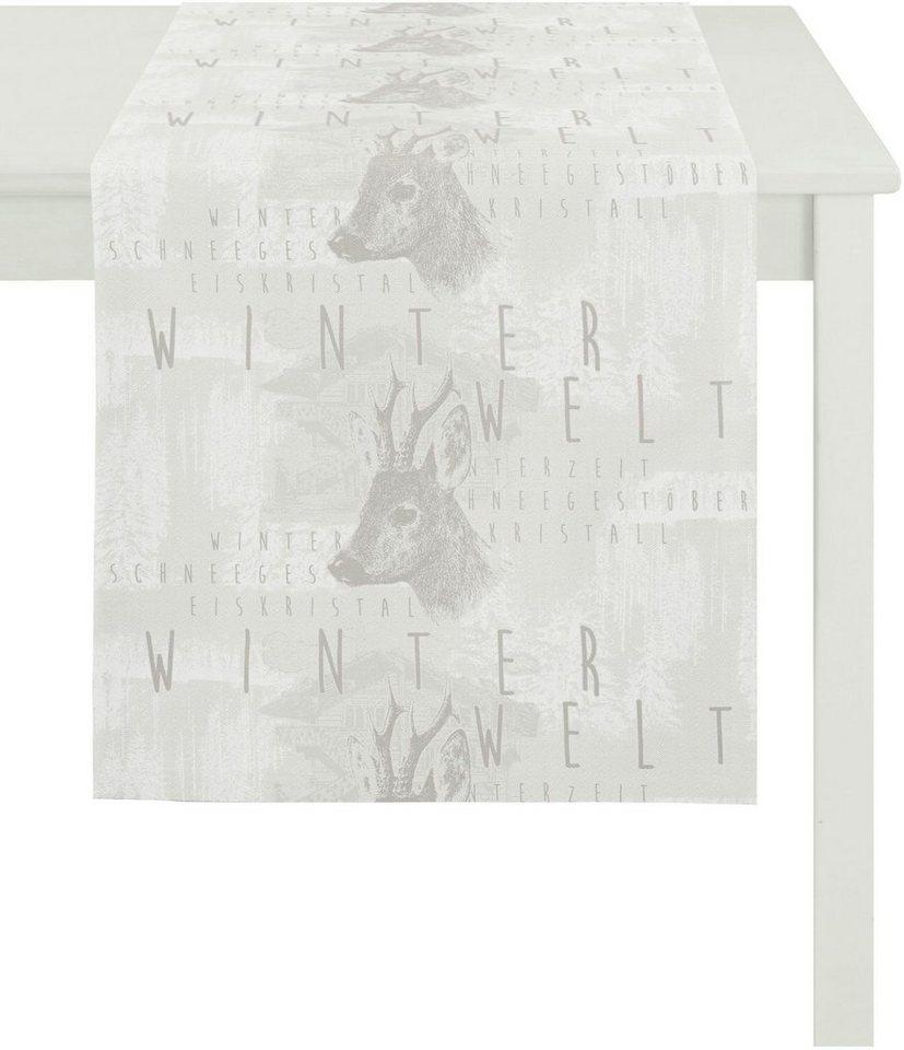 Apelt Tischläufer, 48/140 cm, »5153 WINTERWELT« in weiß