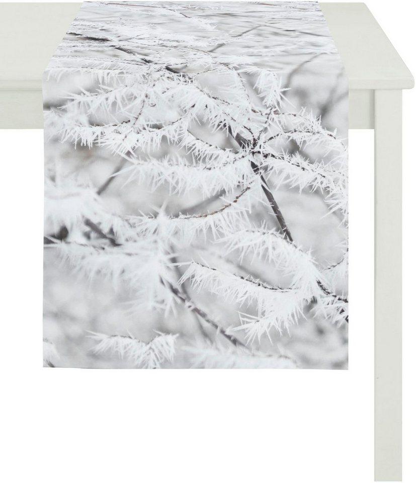Apelt Tischläufer, 48 x 135 cm, »5167 WINTERWELT« in weiß/grau