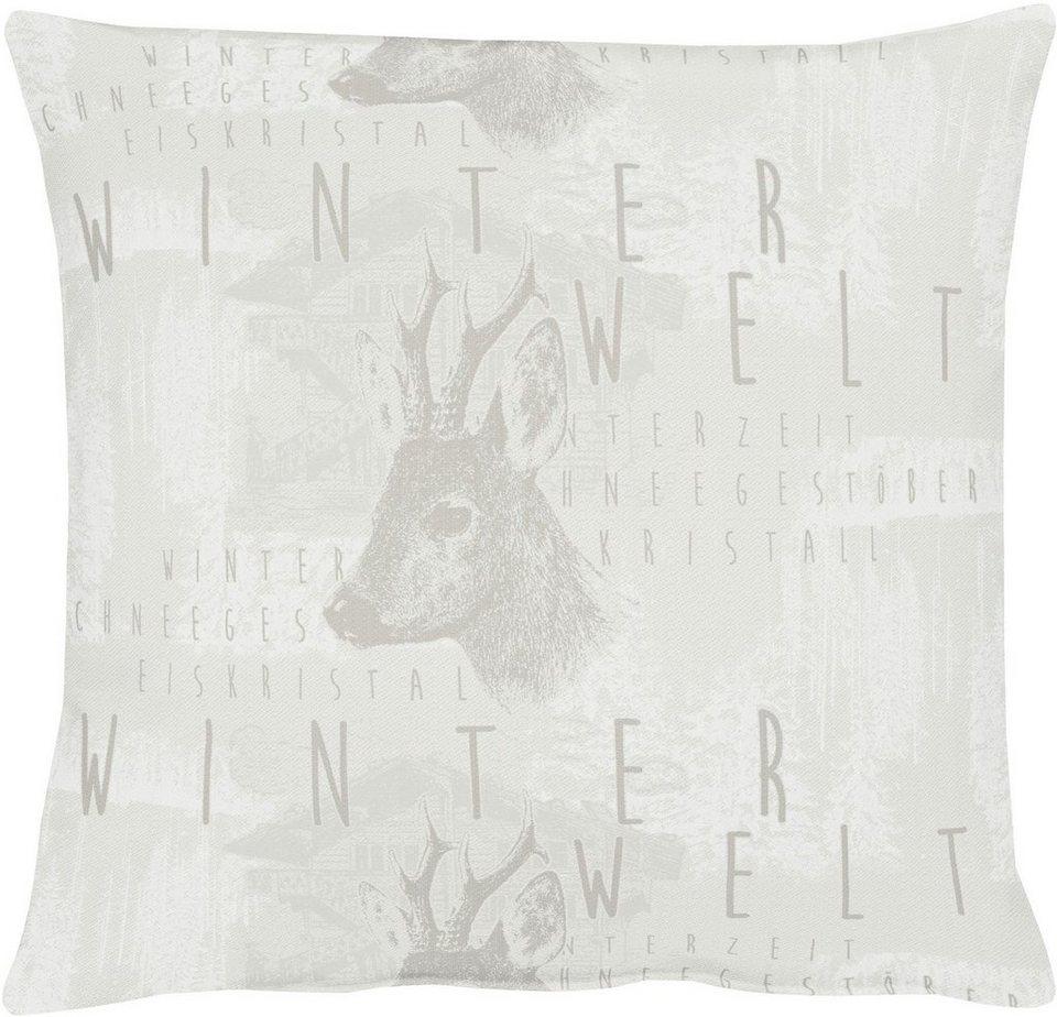 Apelt Kissenhülle, 46/46 cm, »5153 WINTERWELT« in weiß
