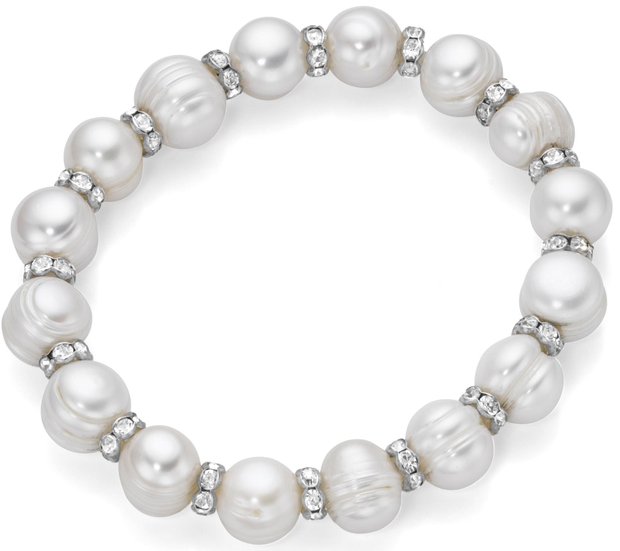 Firetti Perlenarmband, mit Süßwasserzuchtperlen und Kristallsteinen