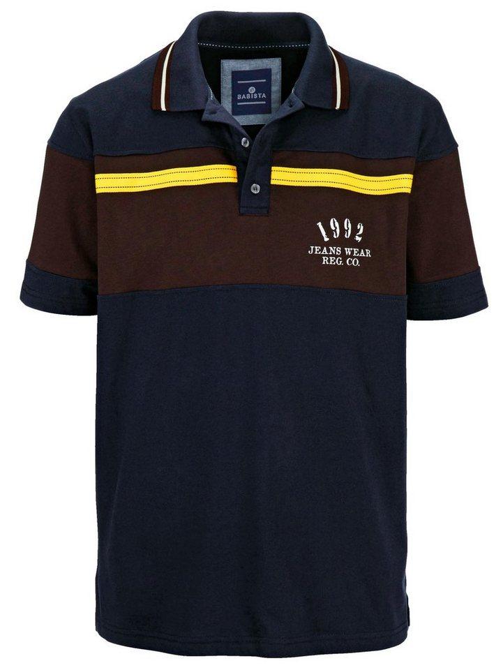 Babista Poloshirt in marine-braun