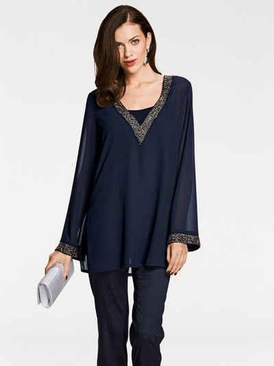 Schwarze hose dunkelblaue bluse