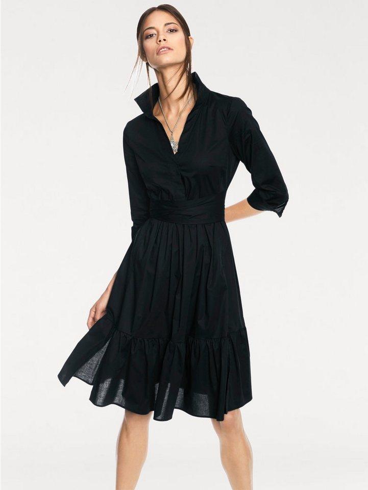 Hemdblusenkleid in schwarz