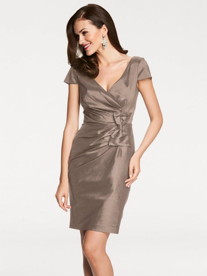 Cocktailkleid in taupe