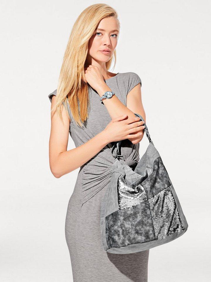 Tasche in silberfarben