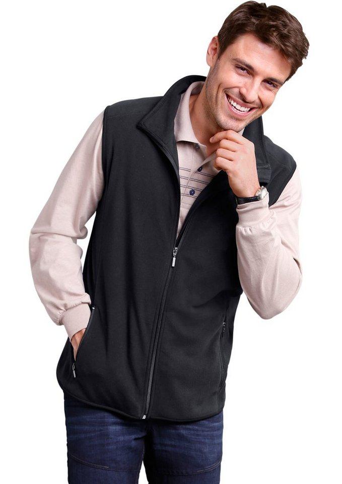 Classic Basics Fleece-Weste mit schützendem Stehkragen in schwarz