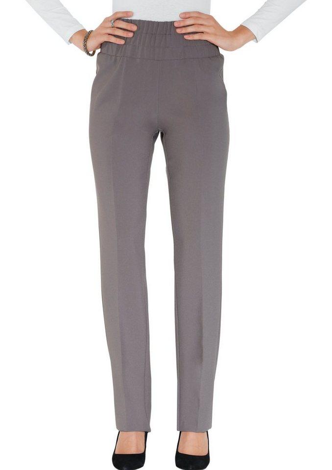 Classic Basics Hose mit figurfreundlichen Bügelfalten in grau