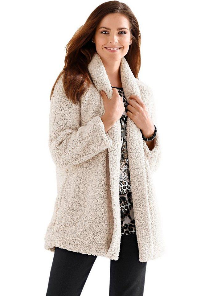 Classic Basics Jacke aus flauschigem Teddy-Fleece in beige