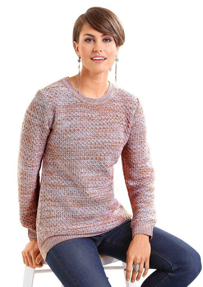Classic Basics Pullover mit schönem Struktur-Strickmuster in ecru-gemustert