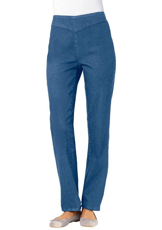 Classic Basics Jeans mit schmal verlaufenden Beinen in blue-bleached
