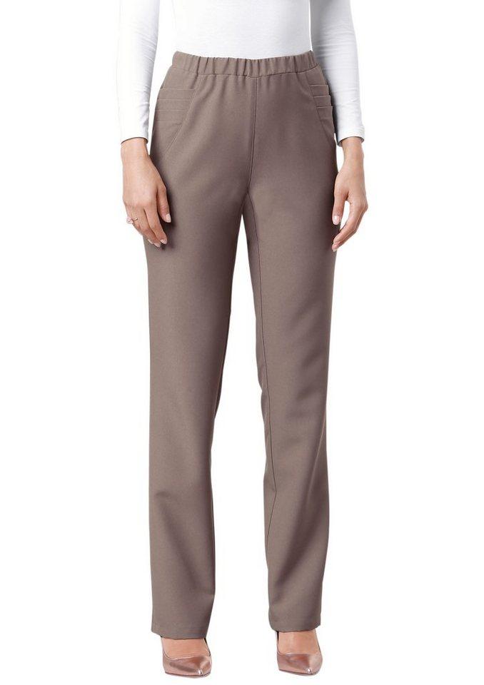 Classic Basics Hose mit dekorativen Falten in taupe