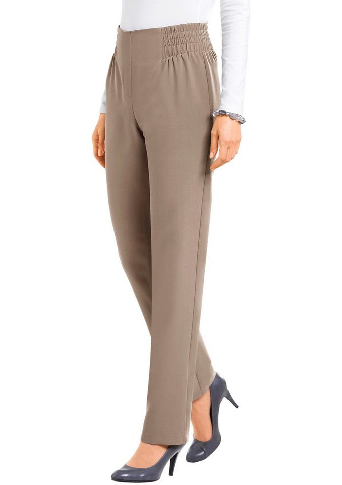 Classic Basics Hose mit breitem Formbund in sand
