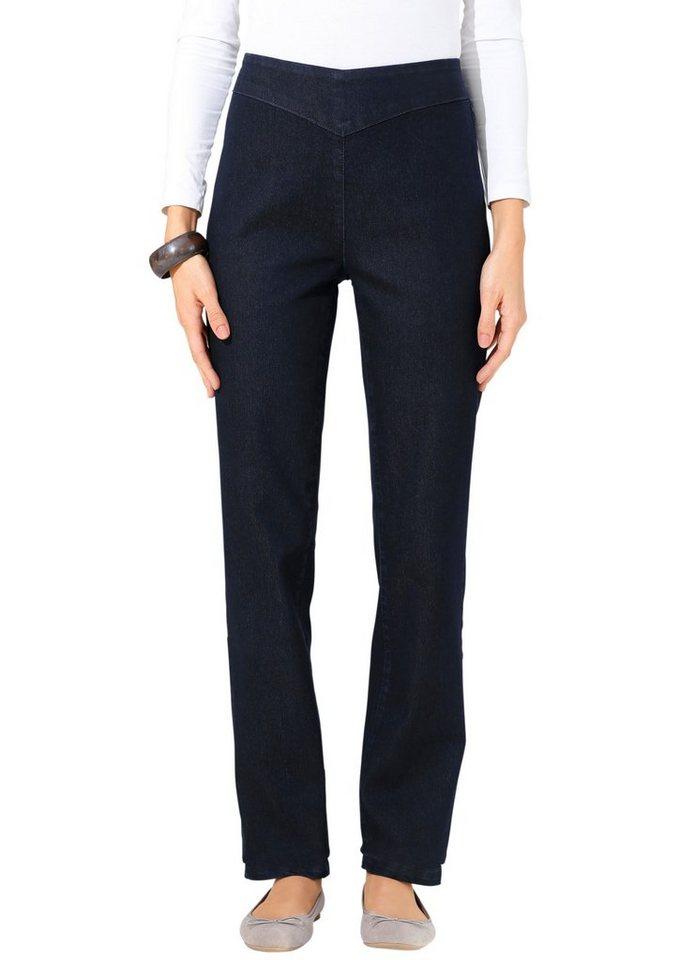 Classic Basics Jeans mit schmal verlaufenden Beinen in dark blue