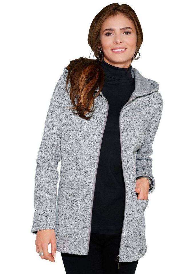 Classic Basics Jacke in pflegeleichter Qualität in grau-meliert
