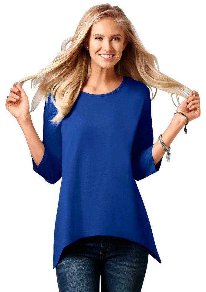 Classic Basics Shirt mit 3/4-Ärmeln in blau