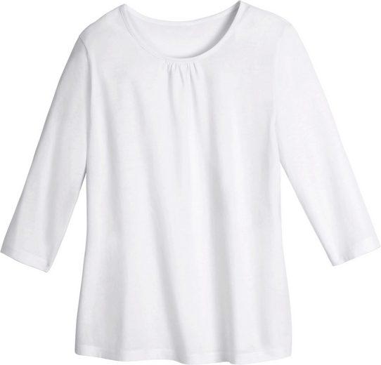 Classic Basics Shirt mit Raffung im Vorderteil