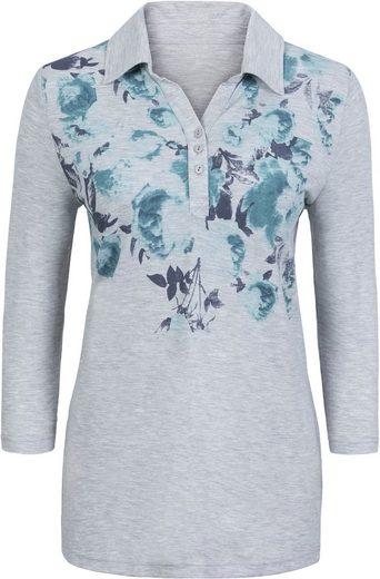 Classic Basics Poloshirt mit floralem Muster