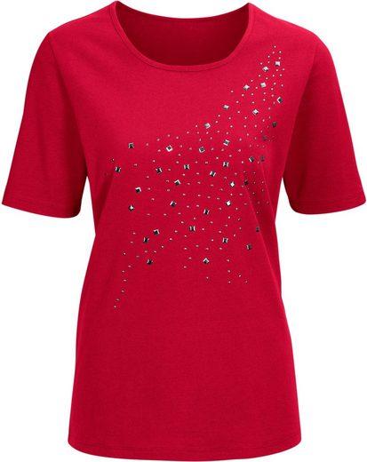 Classic Basics Shirt mit Zierplättchen im Vorderteil