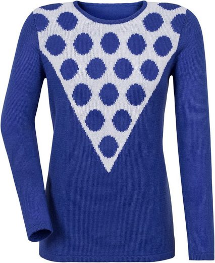 Classic Basics Pullover mit Intarsienmuster