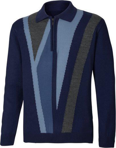 Classic Basics Pullover mit kontrastreichem Strickmuster