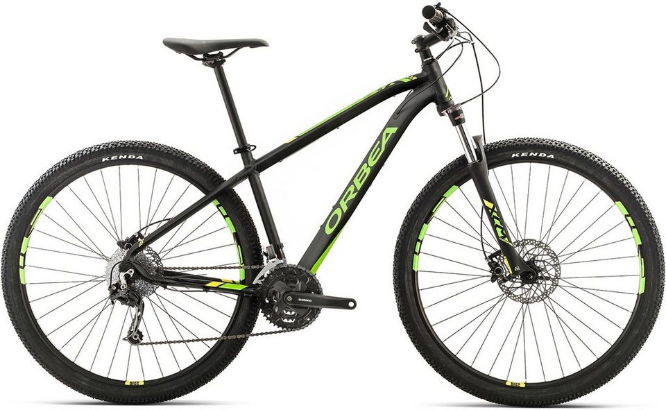 ORBEA Hardtail Mountainbike, 29 Zoll, 27 Gang Shimano Deore Kettenschaltung, »MX 30« in schwarz-grün-gelb