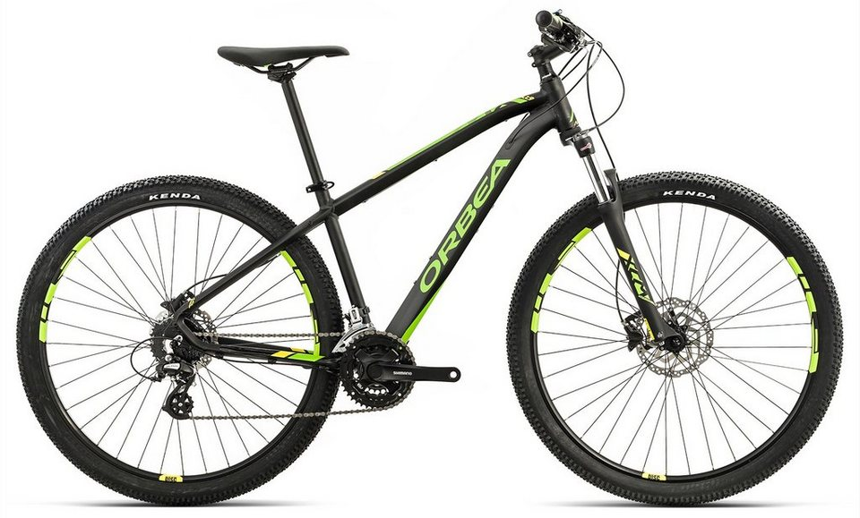 ORBEA Hardtail Mountainbike, 27,5 Zoll, 24 Gang Shimano Altus Kettenschaltung, »MX 40« in schwarz-gelb-grün