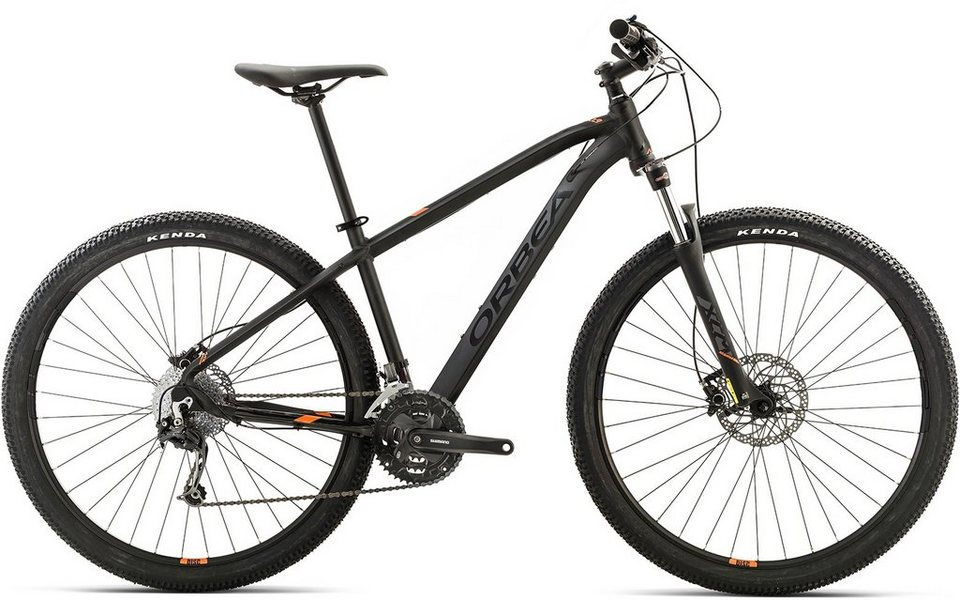 ORBEA Hardtail Mountainbike, 27,5 Zoll, 27 Gang Shimano Deore Kettenschaltung, »MX 30« in schwarz-orange