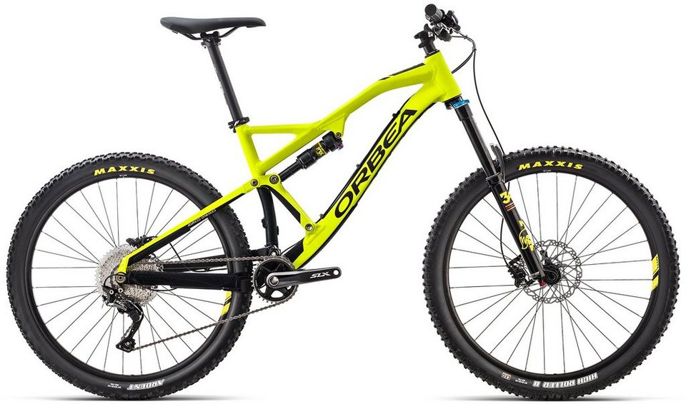 ORBEA Fully Mountainbike, 27,5 Zoll, 11 Gang Shimano SLX Kettenschaltung, »Rallon X30« in gelb-schwarz