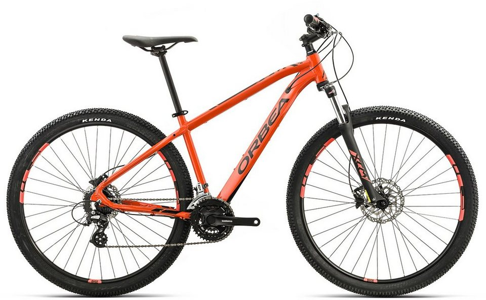 ORBEA Hardtail Mountainbike, 29 Zoll, 24 Gang Shimano Altus Kettenschaltung, »MX 40« in orange-schwarz