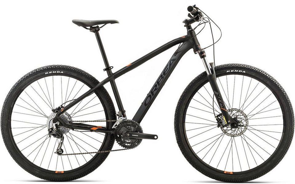 ORBEA Hardtail Mountainbike, 29 Zoll, 27 Gang Shimano Deore Kettenschaltung, »MX 30« in schwarz-orange
