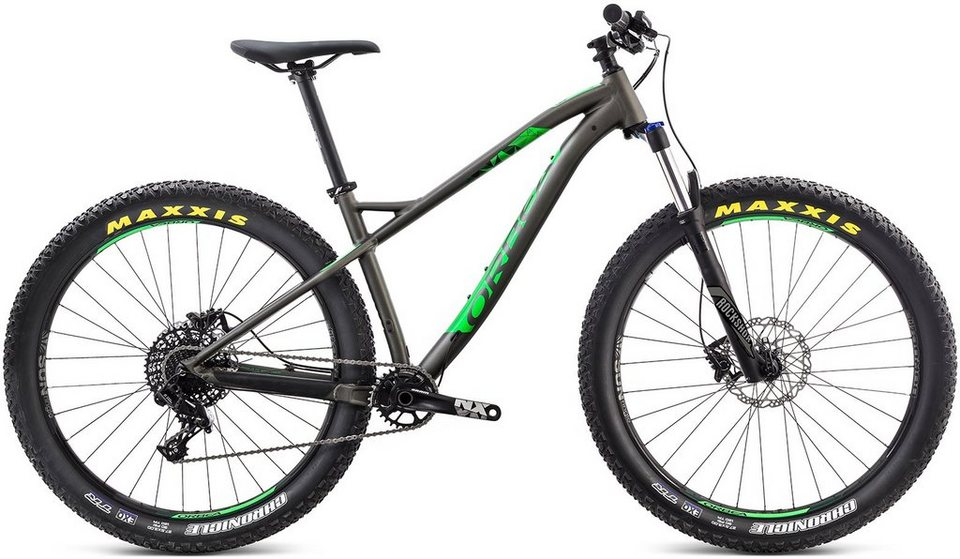 ORBEA Hardtail Mountainbike, 27,5 Zoll, 11 Gang Shimano XT Kettenschaltung, »Loki H10 27+« in anthrazit-grün