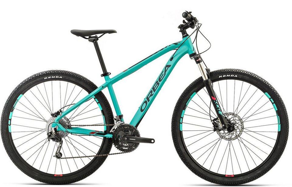 ORBEA Hardtail Mountainbike, 29 Zoll, 27 Gang Shimano Deore Kettenschaltung, »MX 30« in grün-rot