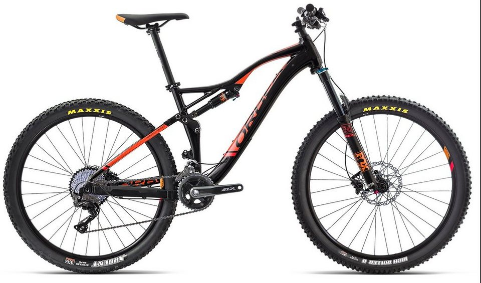 ORBEA Fully Mountainbike, 27,5 Zoll, 22 Gang Shimano XT Kettenschaltung, »Occam AM H30« in schwarz-orange