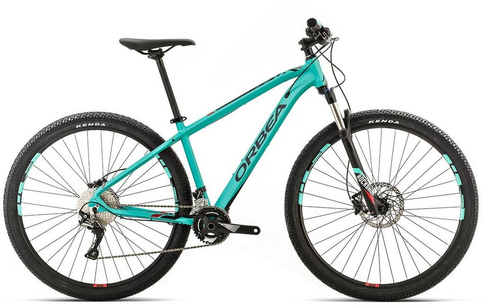 ORBEA Hardtail Mountainbike, 29 Zoll, 22 Gang Shimano SLX Kettenschaltung, »MX MAX« in grün-rot