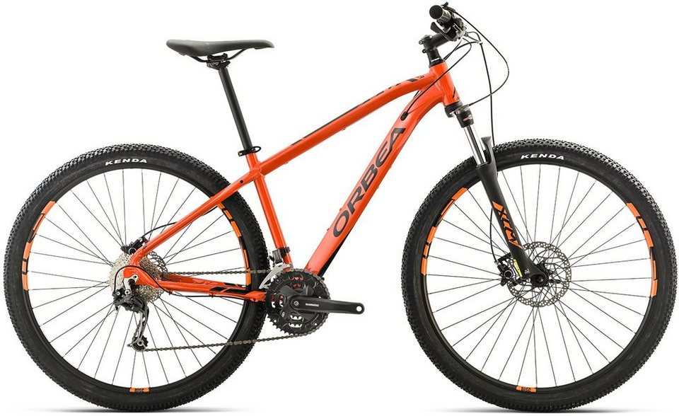 ORBEA Hardtail Mountainbike, 29 Zoll, 27 Gang Shimano Deore Kettenschaltung, »MX 30« in orange-schwarz