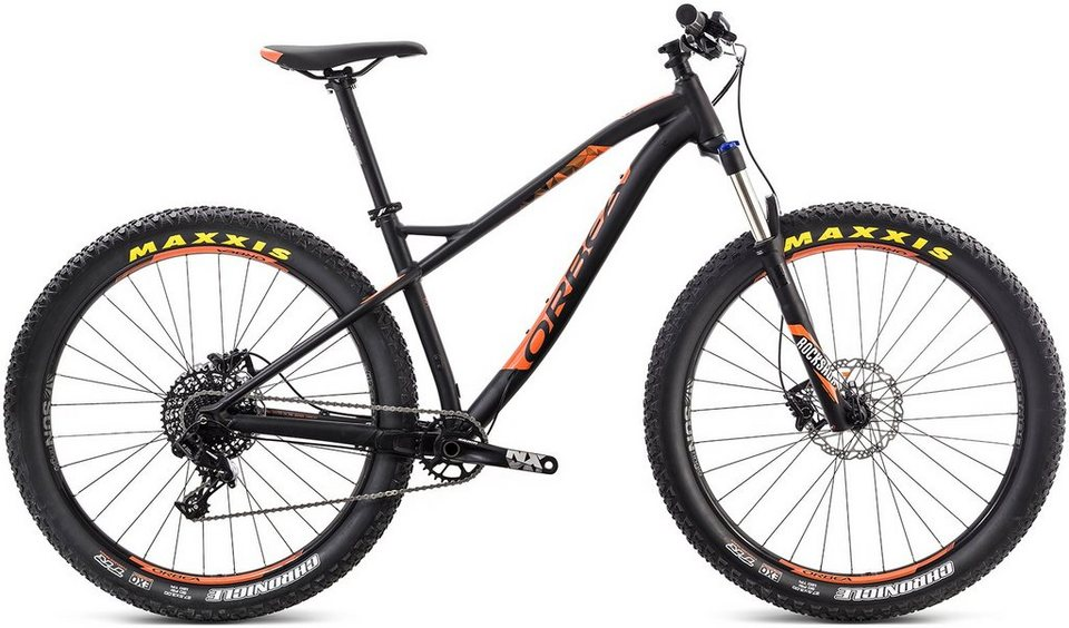 ORBEA Hardtail Mountainbike, 27,5 Zoll, 11 Gang Shimano SLX Kettenschaltung, »Loki H30 27+« in schwarz-orange