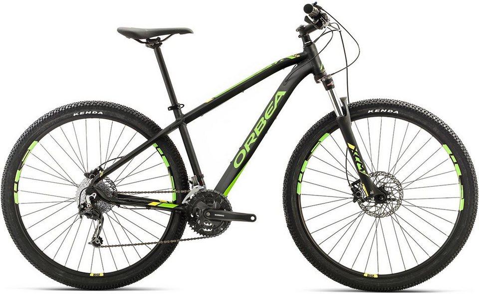 ORBEA Hardtail Mountainbike, 27,5 Zoll, 27 Gang Shimano Deore Kettenschaltung, »MX 30« in schwarz-grün-gelb