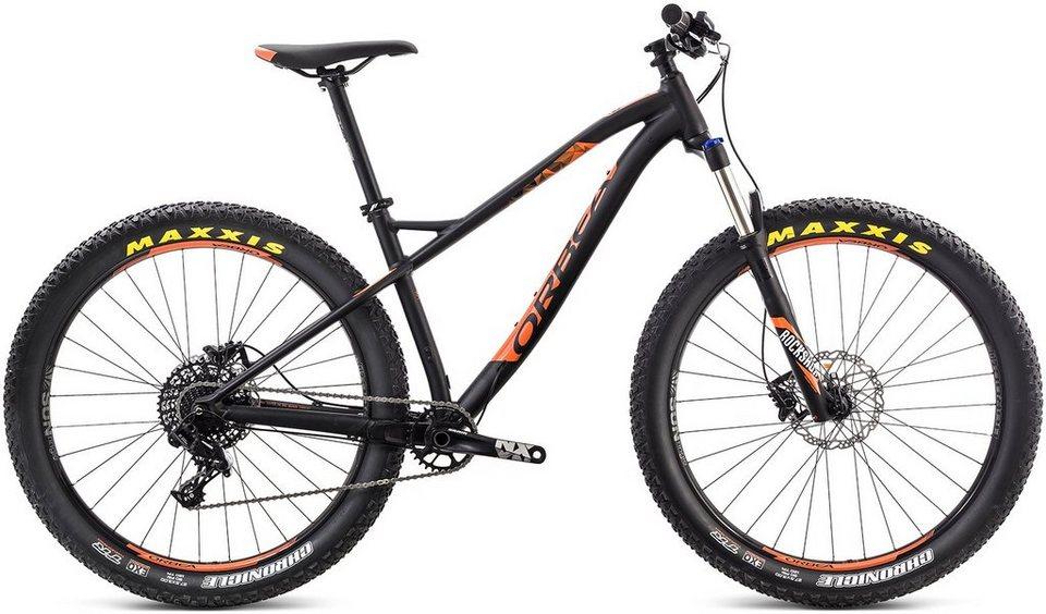 ORBEA Hardtail Mountainbike, 27,5 Zoll, 11 Gang SRAM NX Kettenschaltung, »Loki H20 27+« in schwarz-orange