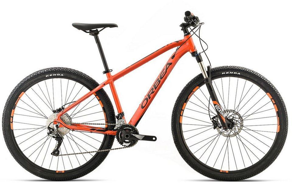 ORBEA Hardtail Mountainbike, 27,5 Zoll, 22 Gang Shimano SLX Kettenschaltung, »MX MAX« in orange-schwarz