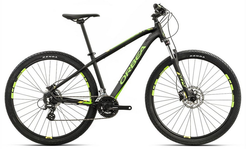 ORBEA Hardtail Mountainbike, 29 Zoll, 24 Gang Shimano Altus Kettenschaltung, »MX 40« in schwarz-grün-gelb