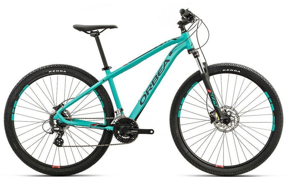 ORBEA Hardtail Mountainbike, 29 Zoll, 24 Gang Shimano Altus Kettenschaltung, »MX 40« in grün-rot