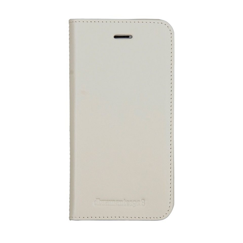 dbramante1928 LederCase »Folio Frederiksberg 3 iPhone (7) Antique White« in weiss
