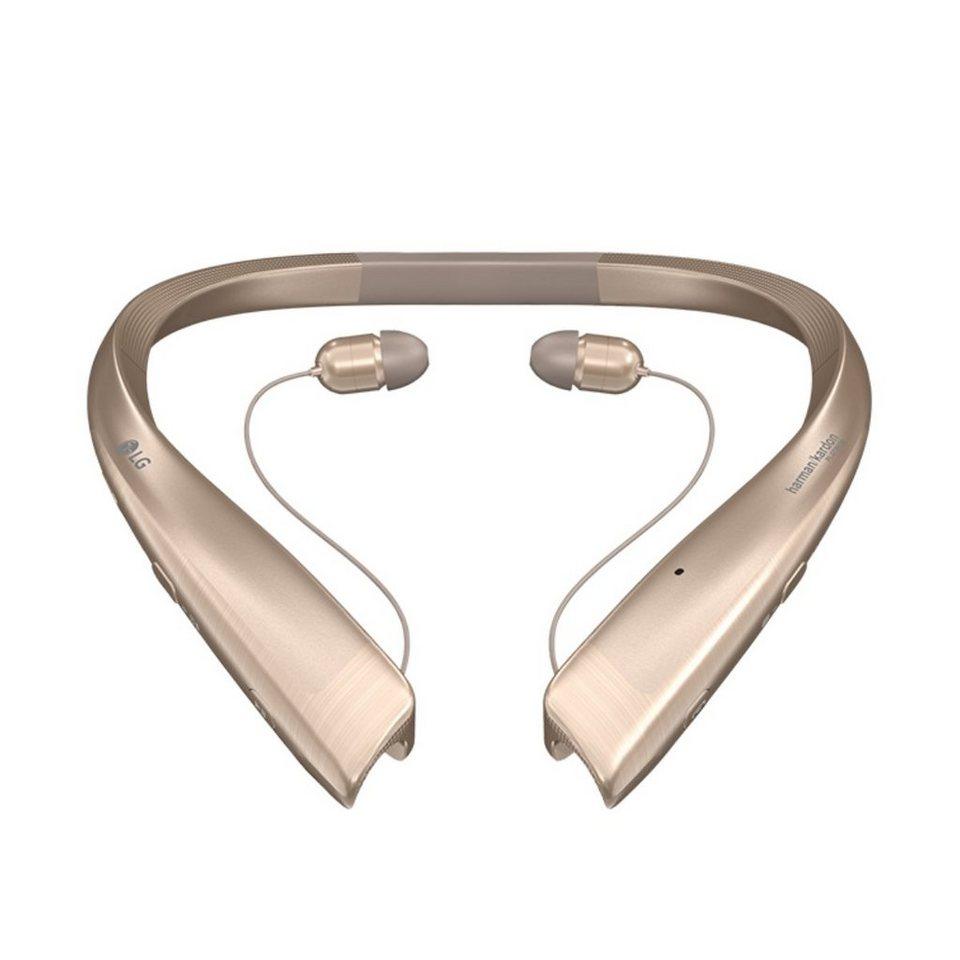LG Einziehbarer Premium Bluetooth In-Ear-Kopfhörer »Tone Platinum« in gold