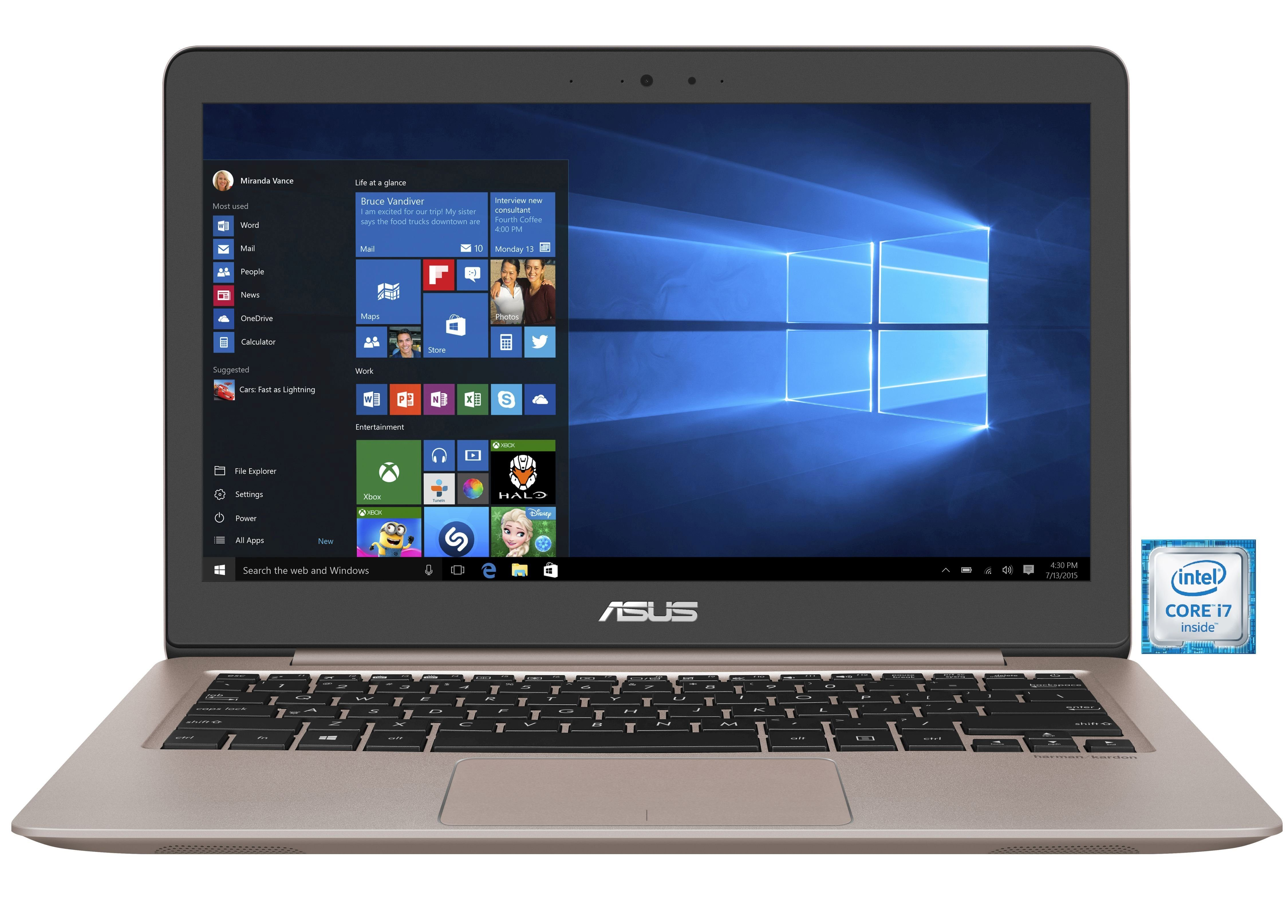 "ASUS UX310UA-FC115T Notebook »Intel Core i7, 33,7cm (13,3""), 256 GB SSD, 8 GB«"