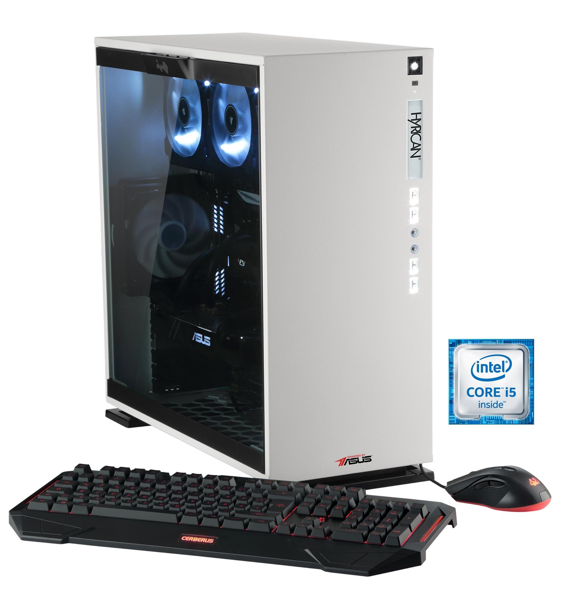 Hyrican Gaming PC Intel® i5-6600K, 16GB, GeForce GTX® 1070 »Elegance 5311 blanc - powered by ASUS«