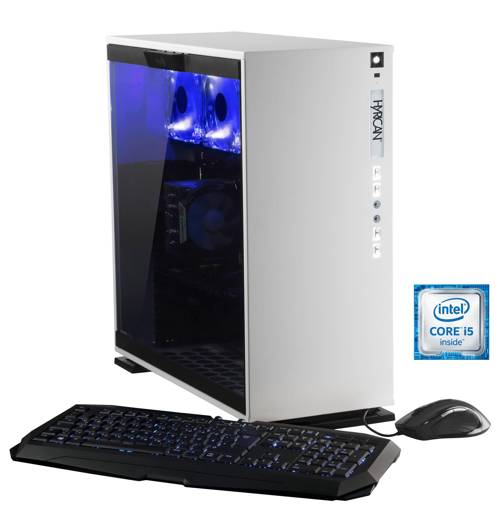 Hyrican Gaming PC Intel® i5-6600, 16GB, GeForce GTX® 1070 »Elegance 5323 blanc«