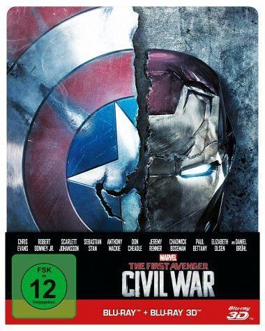 Blu-ray »The First Avenger: Civil War 3D + 2D Steelbook«