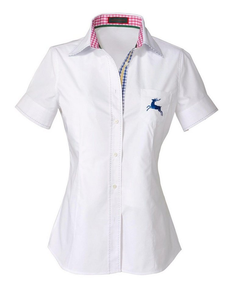 Reitmayer Halbarm-Bluse in Weiß