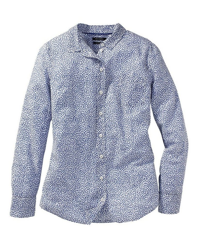 Marc O'Polo Bluse in Blau/Weiß